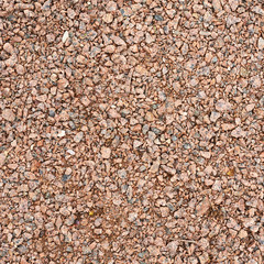 Surface covered with the red gravel