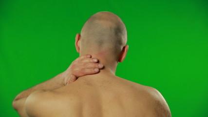 Backache on a green screen.FULL HD.