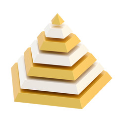 Divided into segments pyramid
