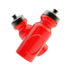 Two sport drinking bottles