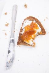 Breakfast bread and jam