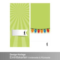 design vorlage eintrittskarten I
