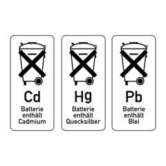 symbol batterie entsorgung II