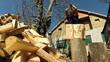 Man Splitting Firewood Slow Motion