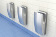 Hand dryers in public washroom - 71615482