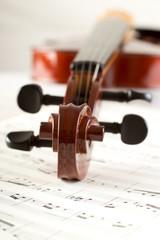 violino su pagine di musica