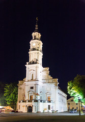 Kaunas City Hall at night - Lithuania