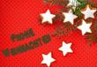 canvas print picture - Zimtsterne auf  rotem Hintergrund