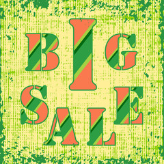 Big Sale retro with grunge