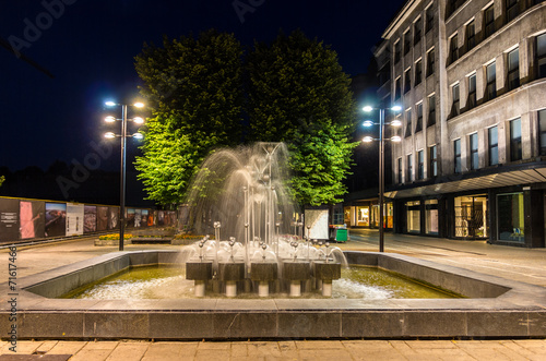 Fountain in Kaunas at night - Lithuania - 71617466