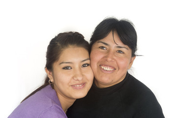 Bolivian Mother and Daughter happy together