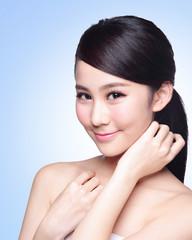 beautiful Skin care woman Face
