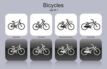 Various bicycles
