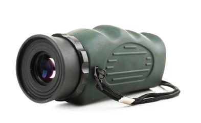 Modern binoculars isolated on white