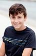 Nice preteen boy smiling