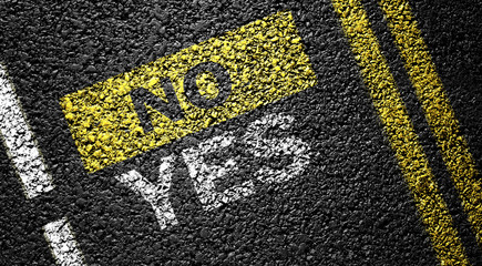 yes not no on the asphalt road