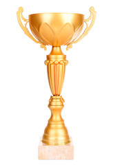 Trophy cup isolated on white