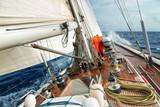 Fototapeta sail boat in the ocean