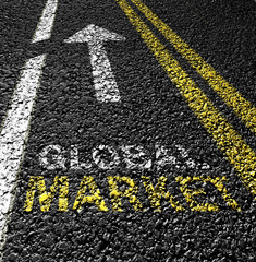 global market on the road