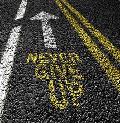 never give up on the asphalt road