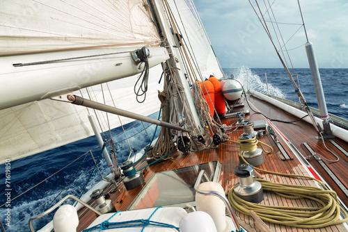 sail boat in the ocean - 71619850