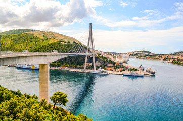 Dubrovnik port and Loznica bridge