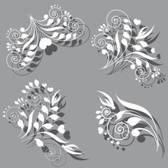 art deco swirls
