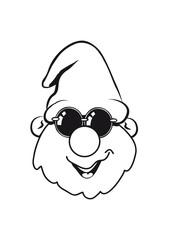 Wichtel Mütze Sonnenbrille