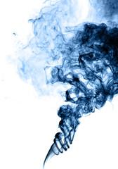 Blue smoke wave