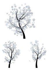 Trees with Snowflakes