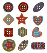 Vector of Sewing Button Design