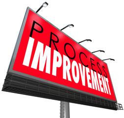 Process Improvement Procedure System New Overhaul Billboard Sign