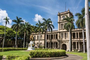 The statue of King Kamehameha in Honolulu