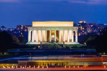 Lincoln Memorial at night, Washington DC.
