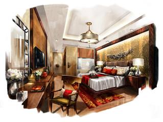 rendering painting interior,rendering bed room