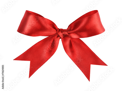 deep red tied ribbon bow - 71624083