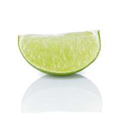 section of ripe lime