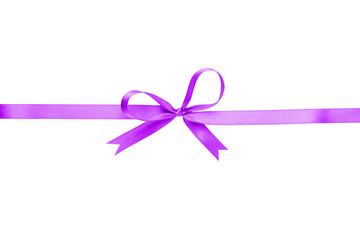 purple thin ribbon with bow