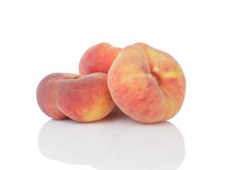ripe flat donut peaches