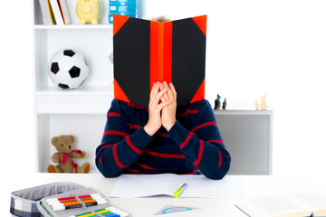 boy has a problem with reading