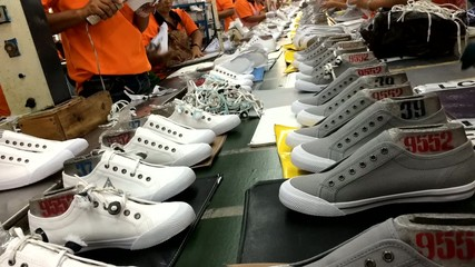 time-lapse of shoe making process