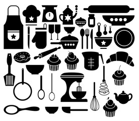Vector of Big Set Kitchen Icon