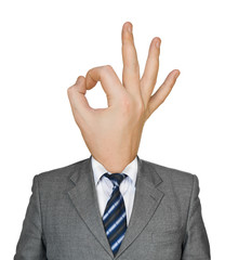 Hand for head