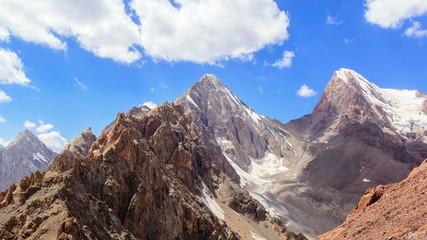 Peak Energy and Chimtarga. Panorama. TimeLapse. Tajikistan 4K