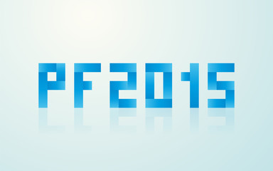 PF 2015 made ​​from rectangles