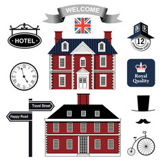 vector collection of english houses