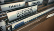 canvas print picture - Tax Evasion, Offshore Account