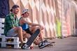 Leinwandbild Motiv Skateboarding is not for everyone