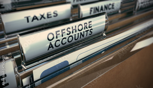 canvas print picture Tax Evasion, Offshore Account