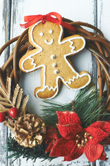 Gingerbread and wreath